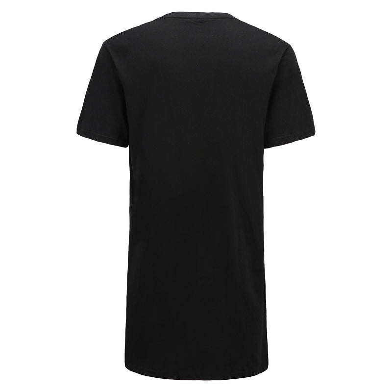 Long-line T-Shirt in Black