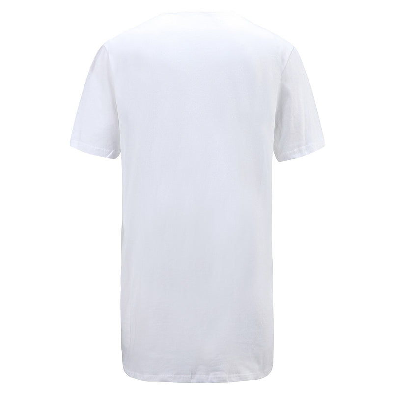 Long-line T-Shirt in White