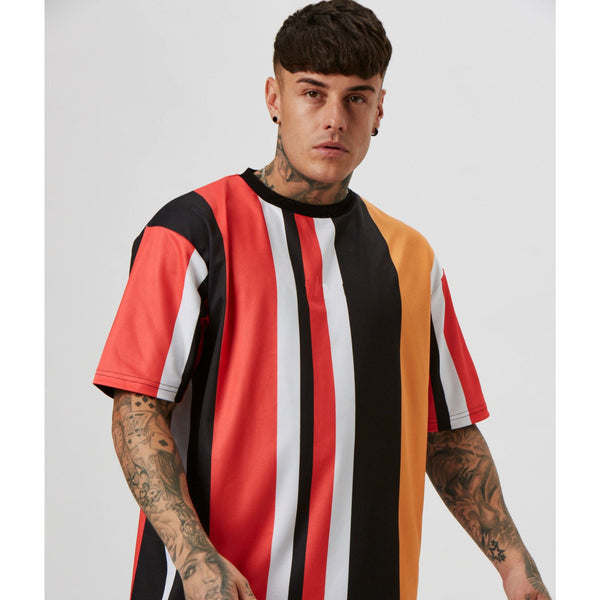 Oversized Fit T-Shirt in Red Stripe