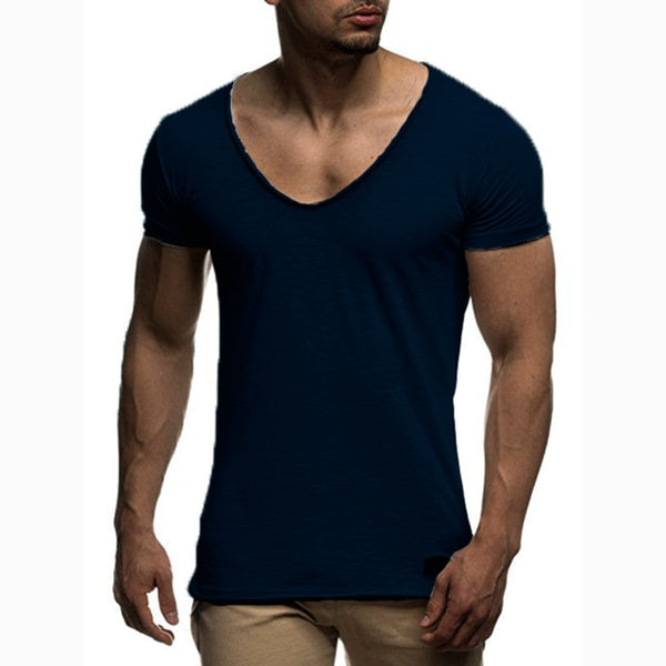 V-Neck T-Shirt in Navy