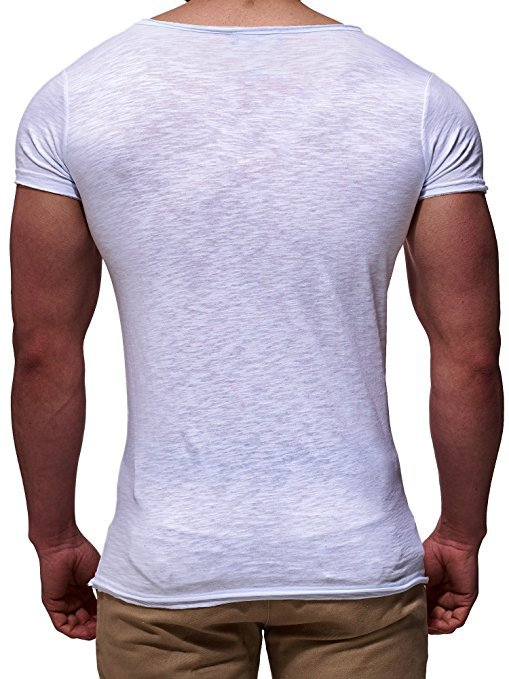 V-Neck T-Shirt in White