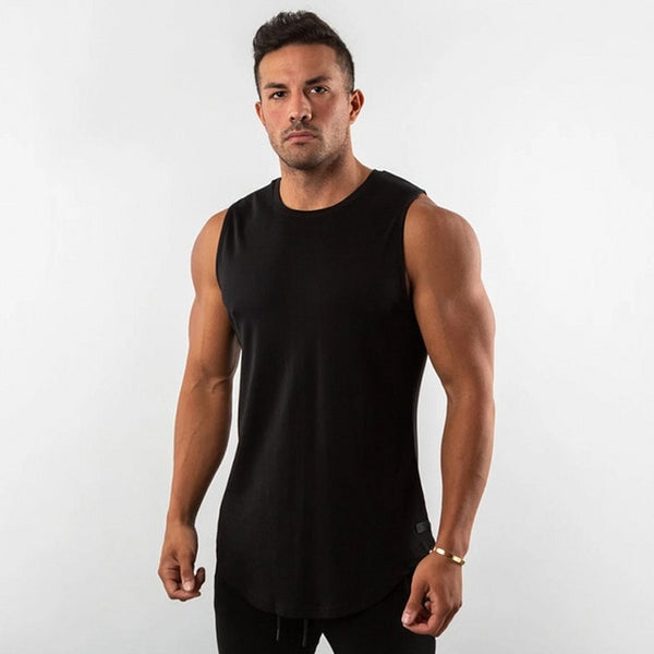 Sleeveless Shirt in Black