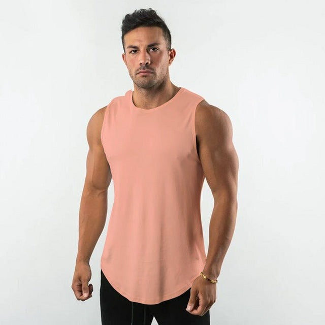Sleeveless Shirt in Pink