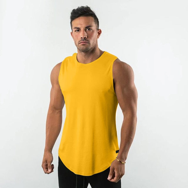 Sleeveless Shirt in Yellow