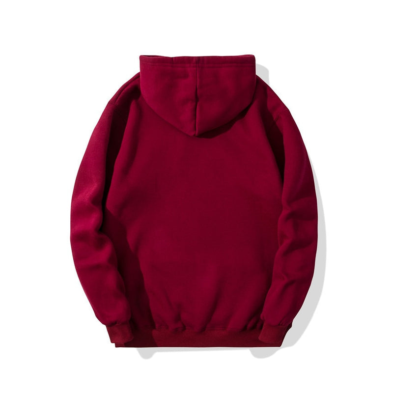 Hoodie in Dark Red