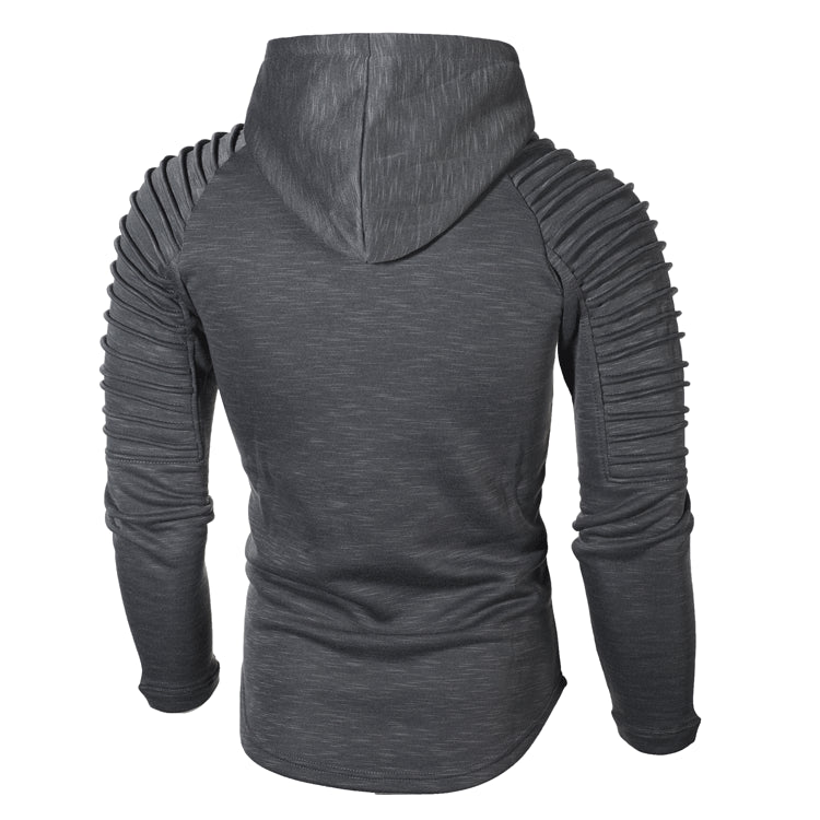 Hoodie with Textured Detail in Grey