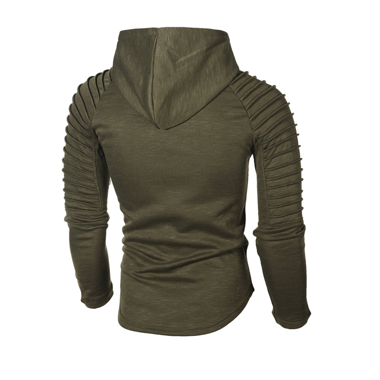 Hoodie with Textured Detail in Green