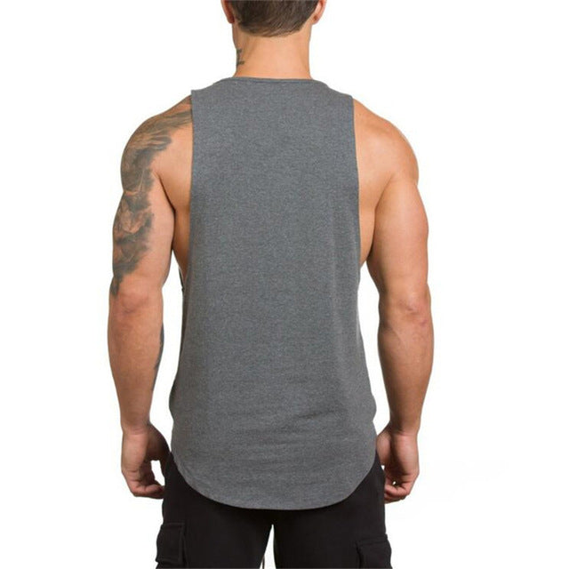 Cotton Sleeveless Shirt in Gray