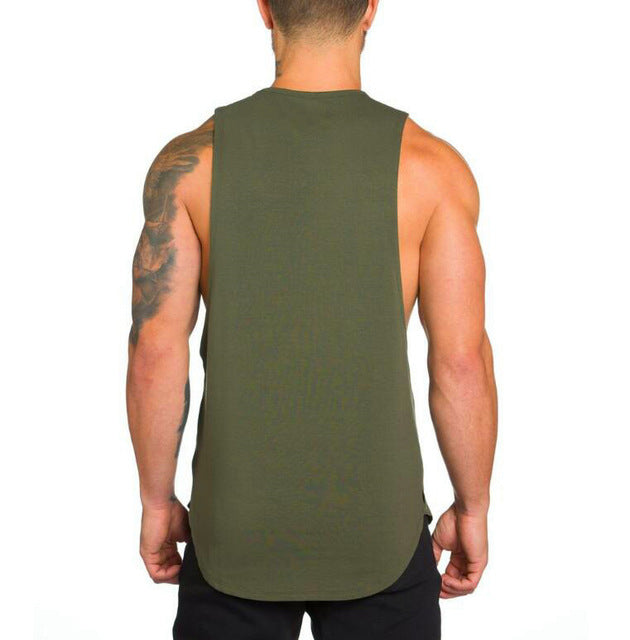 Cotton Sleeveless Shirt in Green