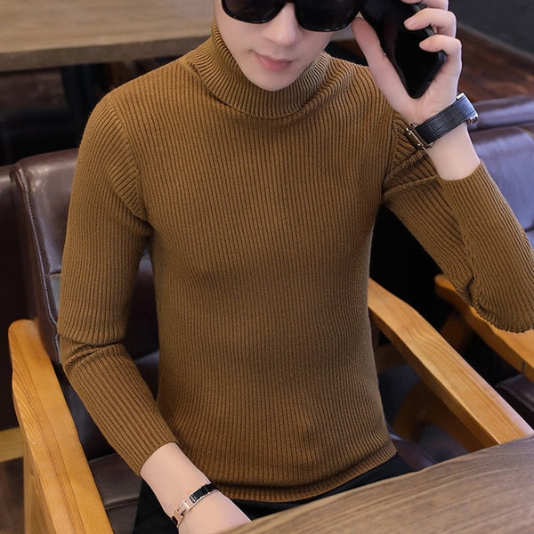 Turtle Neck Jumper in Orange