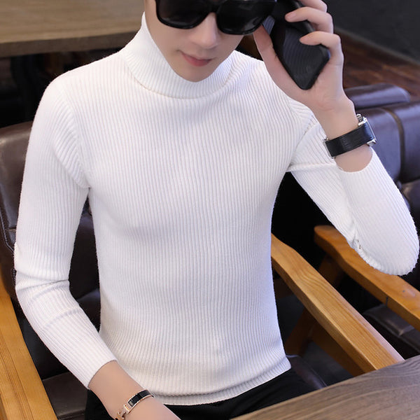 Turtle Neck Jumper in White