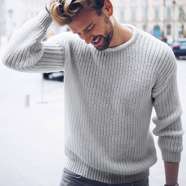 Knitted Jumper in Gray