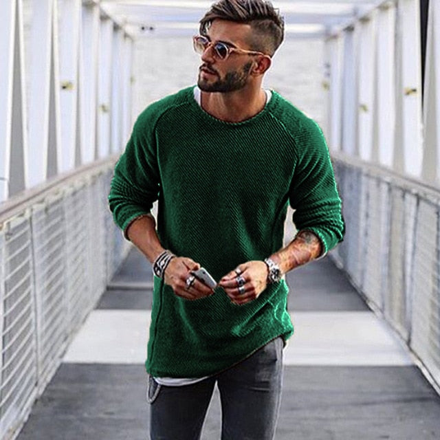 Long-line Jumper in Green