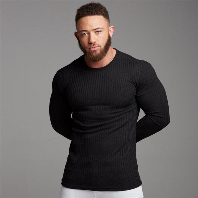 Slim Fit Jumper in Black