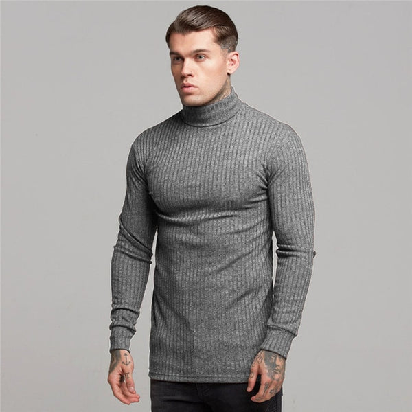 Slim Fit Jumper in Gray