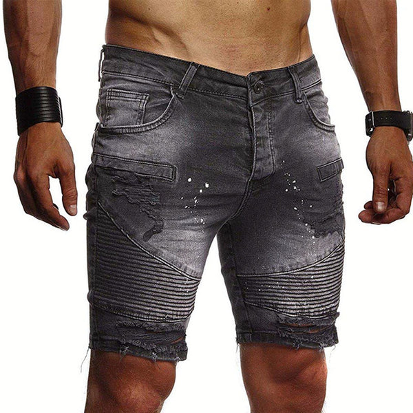Textured Shorts in Black