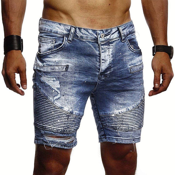 Textured Shorts in Blue