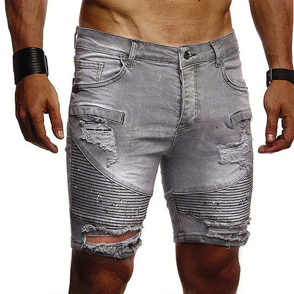 Textured Shorts in Gray