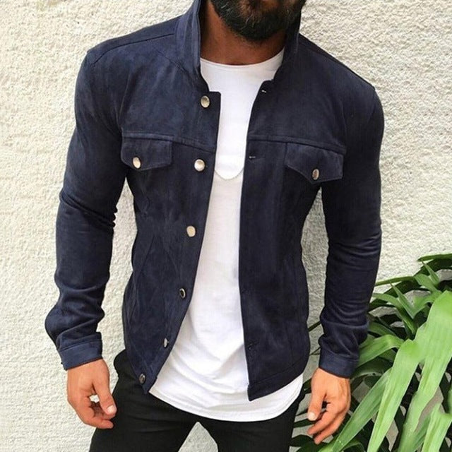 Pilot Jacket in Navy Blue