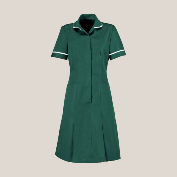 Halton Deep Coloured Classic Collar Healthcare Dress in Regular