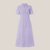 Farleigh Striped Zip Up Revere Collar Lightweight Dress (Regular Length)