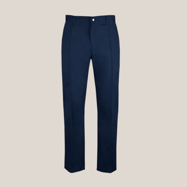 Norman Men's Blue Essential Workwear Trousers in Extra Tall