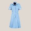 Halton Pastel Blue Classic Collar Healthcare Dress in Tall