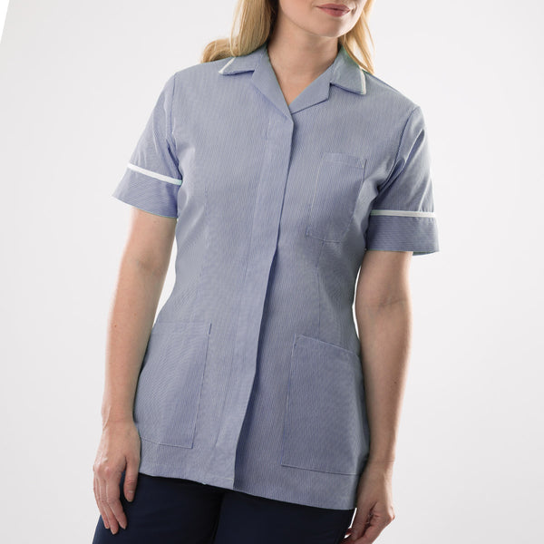 Abbey Revere Collar Striped Lightweight Healthcare Tunic