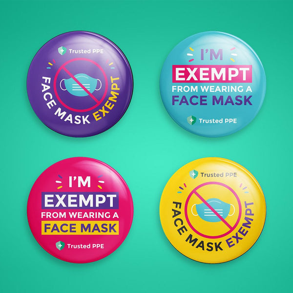 Mask Exemption Badge (Pack of 4)