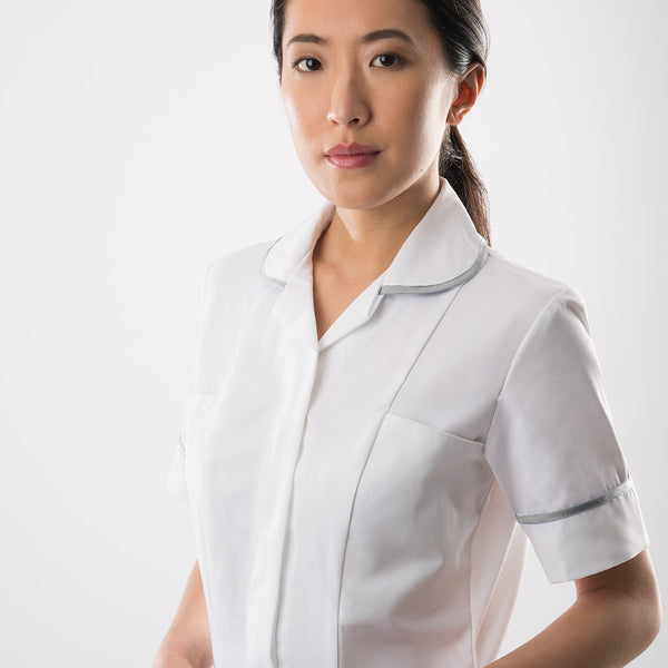 Seacole Classic White Healthcare Tunic with Light Colour Trim