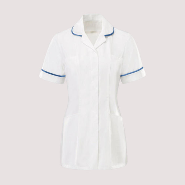 Seacole Classic White with Bright Blue Trim Healthcare Tunic
