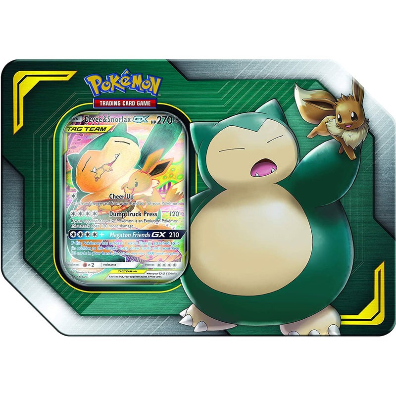 Pokemon TCG: Tag Team Tin - Eevee & Snorlax GX