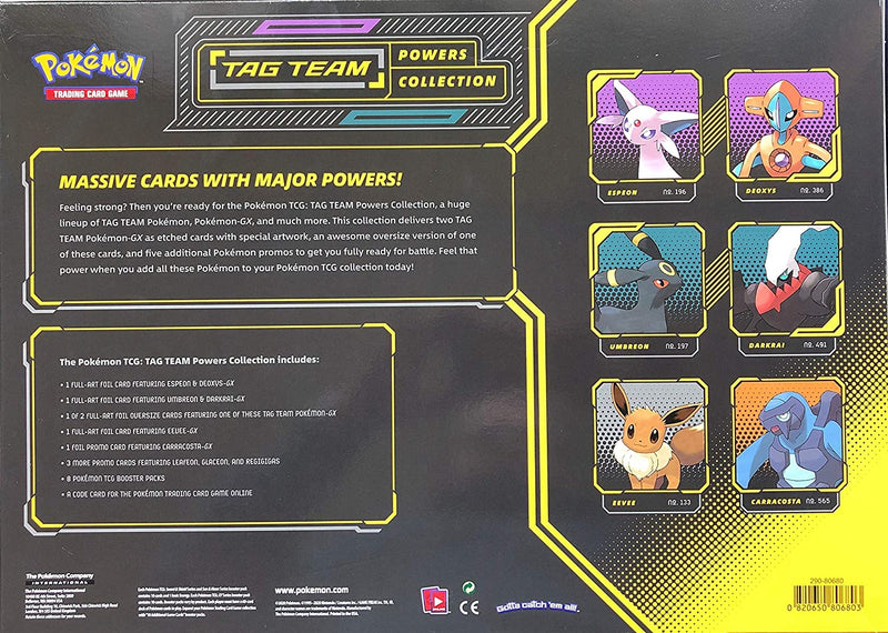 Pokemon TCG: Tag Team Powers Collections-Espeon & Deoxys