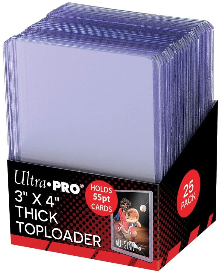 "Ultra Pro: 3"" x 4""  55pt Thick Toploader-25 pack"