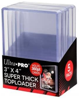 "Ultra Pro 3"" x 4"" Super Thick Toploader 5ct"