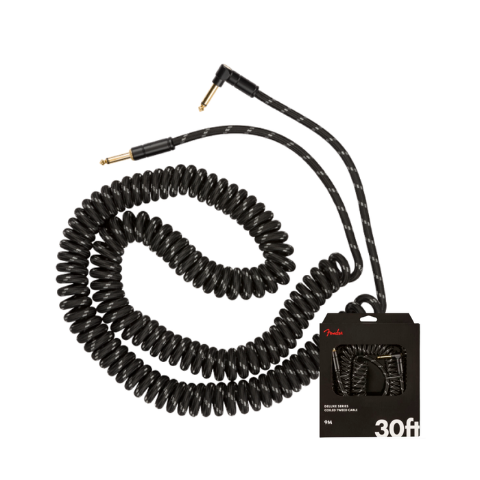 Cable Conexión Fender Deluxe Coil Cable 30' Black Tweed - 9 Mtr