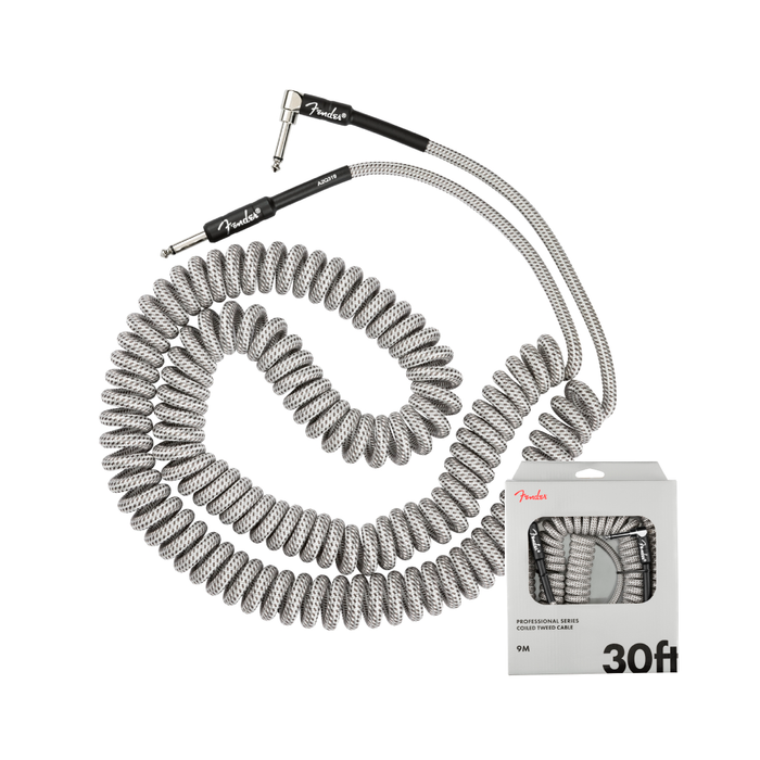 Cable Conexión Fender Pro Coil Cable 30' / White Tweed - 9 Mts