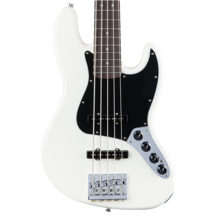 Bajo Eléctrico Fender Deluxe Active Jazz Bass® V, Pau Ferro Fingerboard, Olympic White
