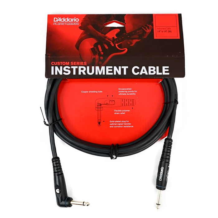 Cable Conexión Planet Waves PW-GRA-10 10' Custom Series 1/4In Inst Cable Right Angle - 3 Mtrs