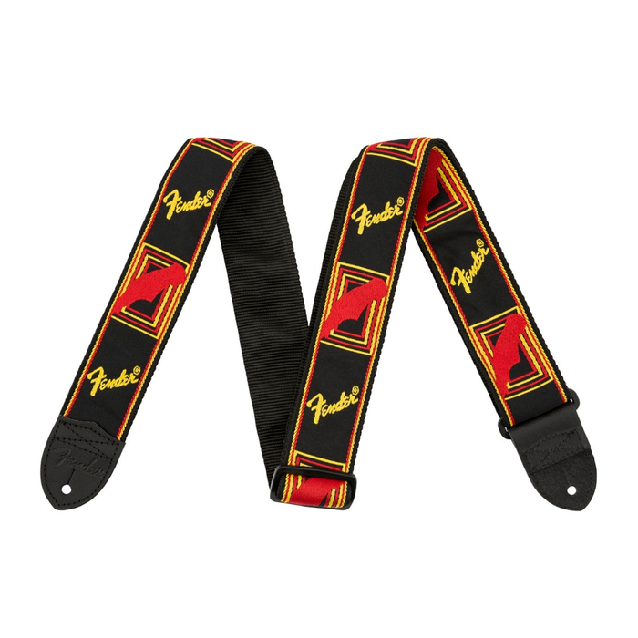 "Correa Fender para guitarra 2"" Monogrammed Black, Yellow, And Red"