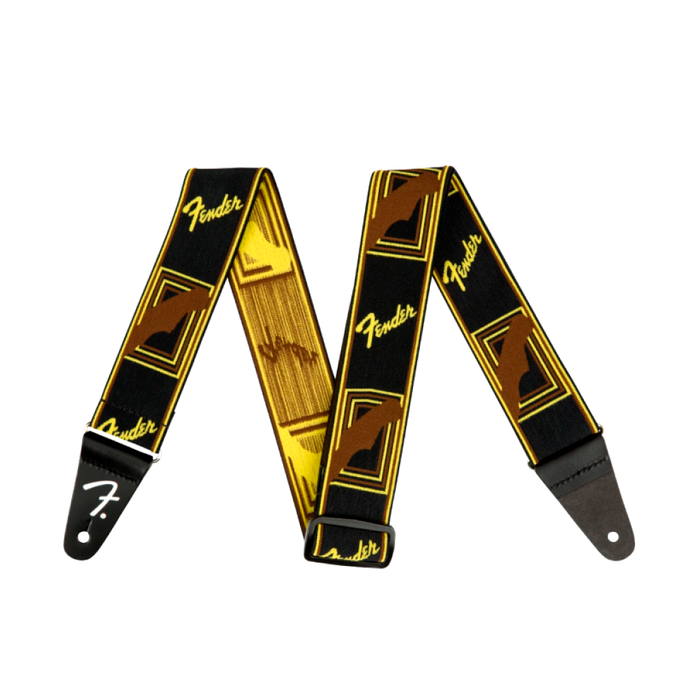 "Correa Fender Weighless™ 2"" Monogrammed, Black/Yellow/Brown"