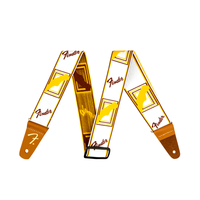"Correa Fender Weighless™ 2"" Monogrammed, White/Brown/Yellow"