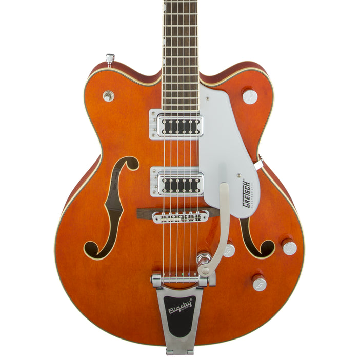 Guitarra Eléctrica Gretsch G5422T Electromatic Hollow Body con BigsBy-Naranja