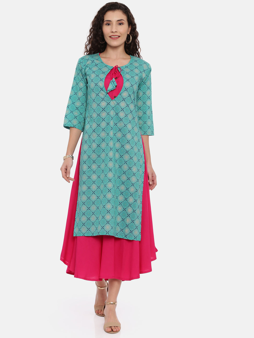 Arana Women's Double Layered Kurta