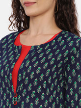 Load image into Gallery viewer, Arana Women's Double Layered Kurta With Printed Outer Layer