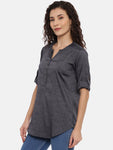 Arana Women's Rayon Blend Plain Top With V-Shape Neck