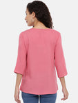 Arana Women's Rayon Printed Pink Colour Top