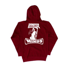 "Load image into Gallery viewer, Hypnotize Minds Front and back ""Hoodie"" Burgundy"