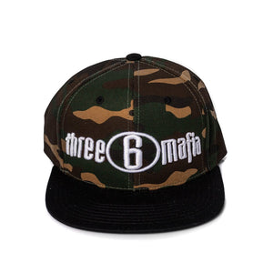 "Three 6 Mafia ""Camo/Black"" Snapback"