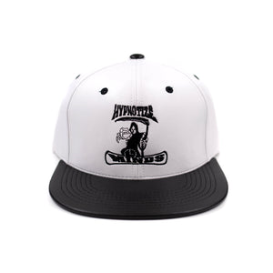 "Hypnotize Minds ""Leather Black/White"" Snapback"